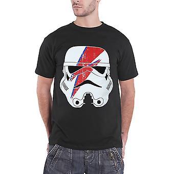 Star Wars T Shirt Stormtrooper Glam Lightning Bolt new Official Mens Black