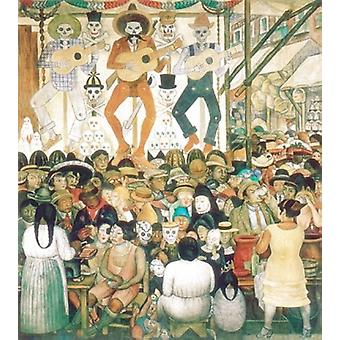 Dia De Muertos 1924 Poster Print by Diego Rivera (24 x 33)