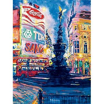 Piccadilly Circus London Poster Print by Roy Avis (23 x 31)
