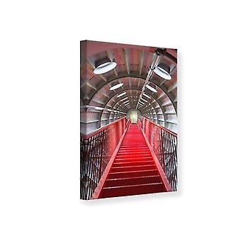 Lona impresión escalera futurista