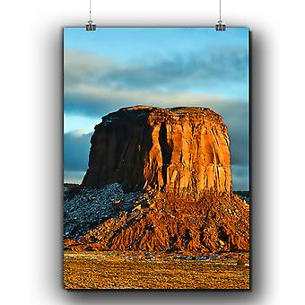 Matte or Glossy Poster with Rock Desert Photo Nature | Wellcoda | *q267