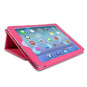 Caseflex Ipad Air Textured Leather-Effect Stand Case - Hot Pink