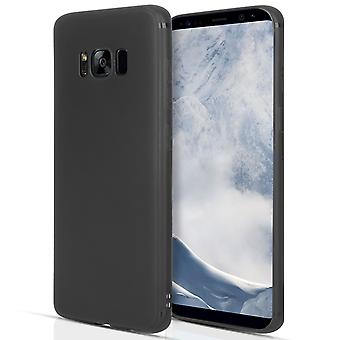 Samsung Galaxy S8 Plus Matte Silicone Gel Case - Black
