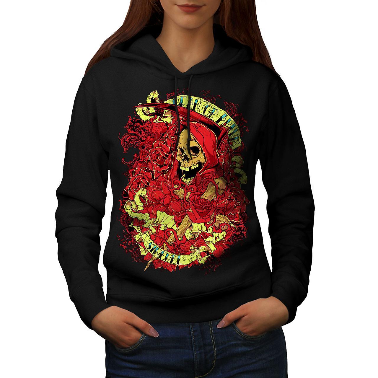 Dead Alive Sins Skull Women Black Hoodie | Wellcoda