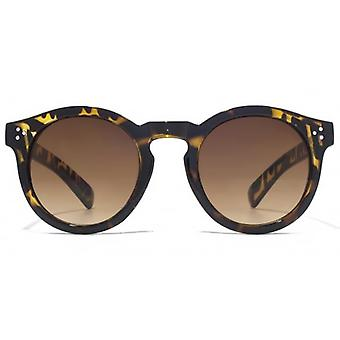 M:UK Camden Vintage Round With Stud Detail Sunglasses In Tortoiseshell