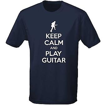Keep Calm And Play Guitar Kids Unisex T-Shirt 8 Colours (XS-XL) by swagwear