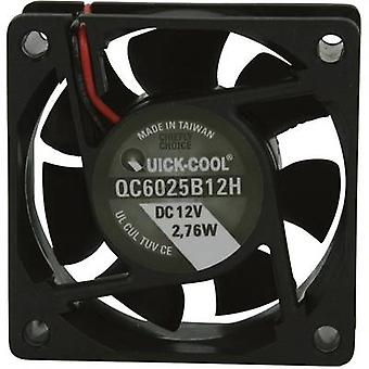 Axial fan 12 Vdc 34.86 m³/h (L x W x H) 60 x 60 x 25 mm QuickCoo