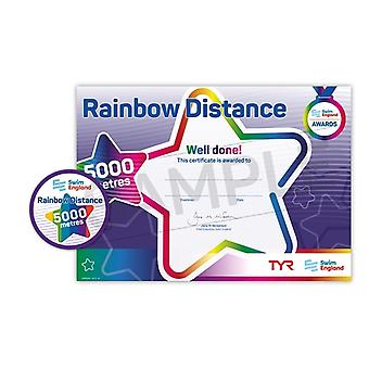 ASA Swim England Rainbow Distance Swimming Award - 5000M