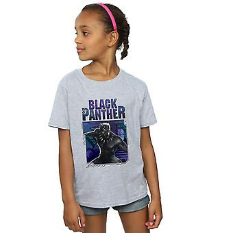 Marvel flickor Black Panther Tech Badge T-Shirt