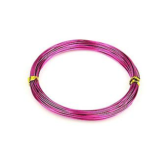 1 x Bright Violet Plated Aluminium 1mm x 10m Round Craft Wire Coil HA16370