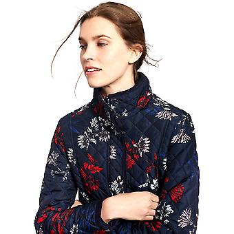Joules Womens/Ladies Newdale Print Quilted Polycotton Jacket Coat