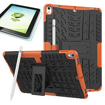 Ibrido esterna protettiva custodia arancione per Apple iPad Pro 10,5 2017 il sacchetto + 0,4 H9 in vetro temperato
