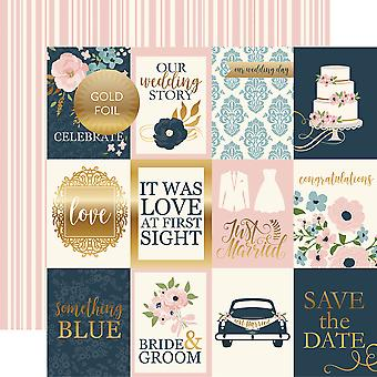 Just Married Foiled Cardstock 12