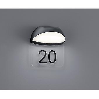 Trio Lighting Muga Modern Anthracite Diecast Aluminium Wall Lamp
