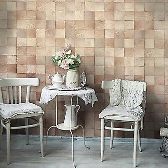 Wallpaper - Wooden geometry