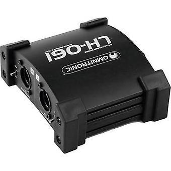 Passive DI box 2-channel Omnitronic LH-061 PRO