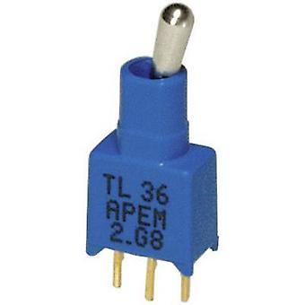 APEM TL36P005000 / TL36P005000 Toggle switch 20 V DC/AC 0.02 A 1 x On/On latch 1 pc(s)