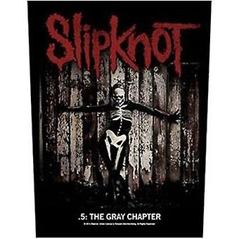 Slipknot Grey Chapter Large Sew-On Back Patch