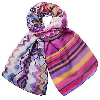 Desigual pashmina sjaal doek opvulling 73W9WE4/3011 etnische kleurstof rechthoek