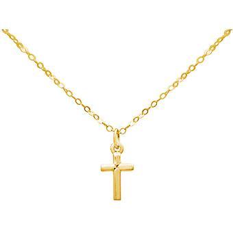 Gemshine - unisex - pingente - banhado a ouro 45cm - prata 925 - Cruz-