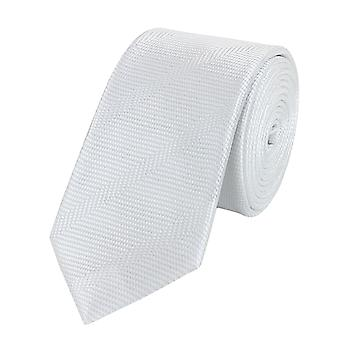 Knytte slipset slips slips 6cm hvit uni Fabio Farini