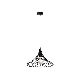 Lucide VINTI Modern Industrial Black Wire Ceiling Pendant