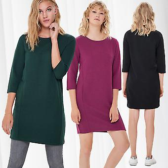 JDY Ladies Knitted Dress Long Sleeve Shirt 3/4 Sweater Jumper Dress JDYSAGA Only
