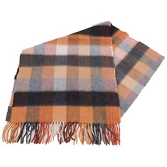 Bassin and Brown Bailey 1 Large Check Wool Scarf - Brown/Charcoal