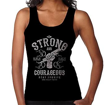 Werden Sie mutig und stark motivierenden Zitat Damen Weste