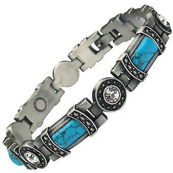 MPS® KARINN Turquoise Gemstones Magnetic Bracelet for Women + Free Resizing Tool