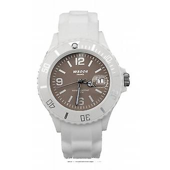 Waooh - Watch MONACO 38 White Dial Color