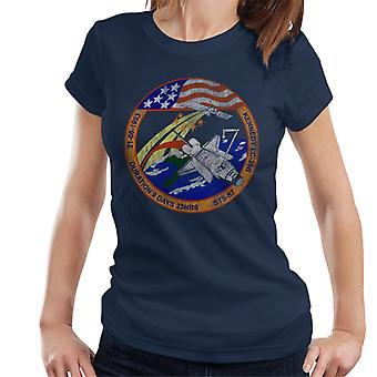 NASA STS 57 Endeavour Mission Badge Distressed Women's T-Shirt