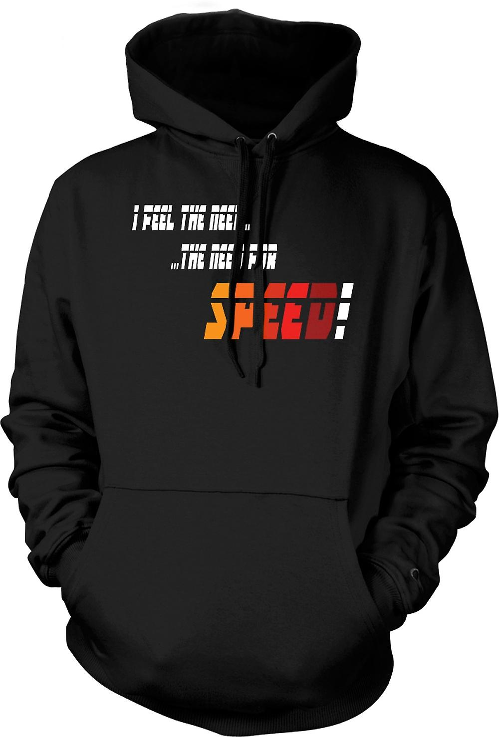 Mens Hoodie - Top Gun - ich fühle mich der Need For Speed - lustig