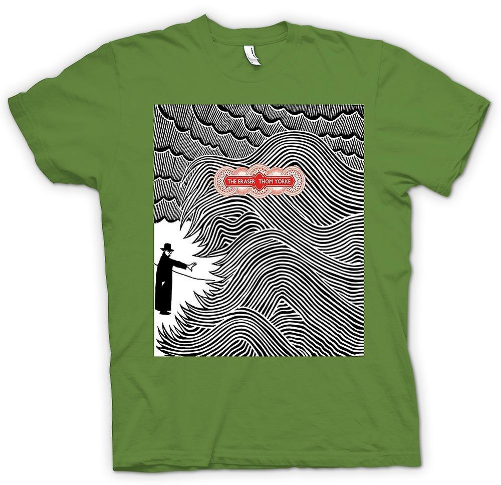 Mens t-skjorte - Thom Yorke - Radiohead viskelær