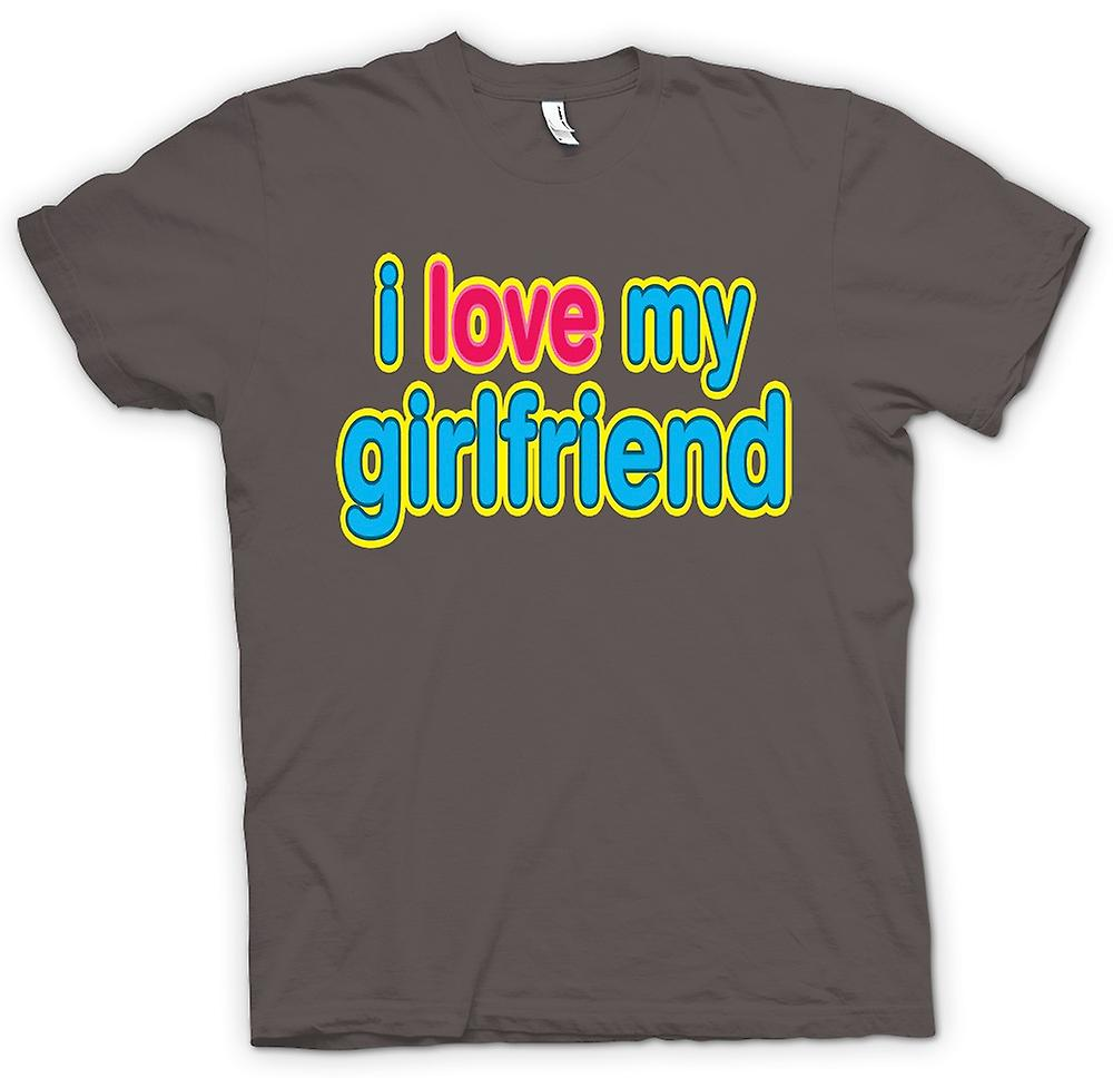 Womens T-shirt - I Love My Girlfriend - Funny