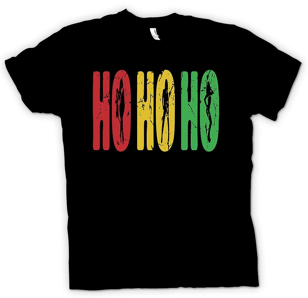 Womens T-shirt - Ho Ho Ho - Funny But Crude Santa