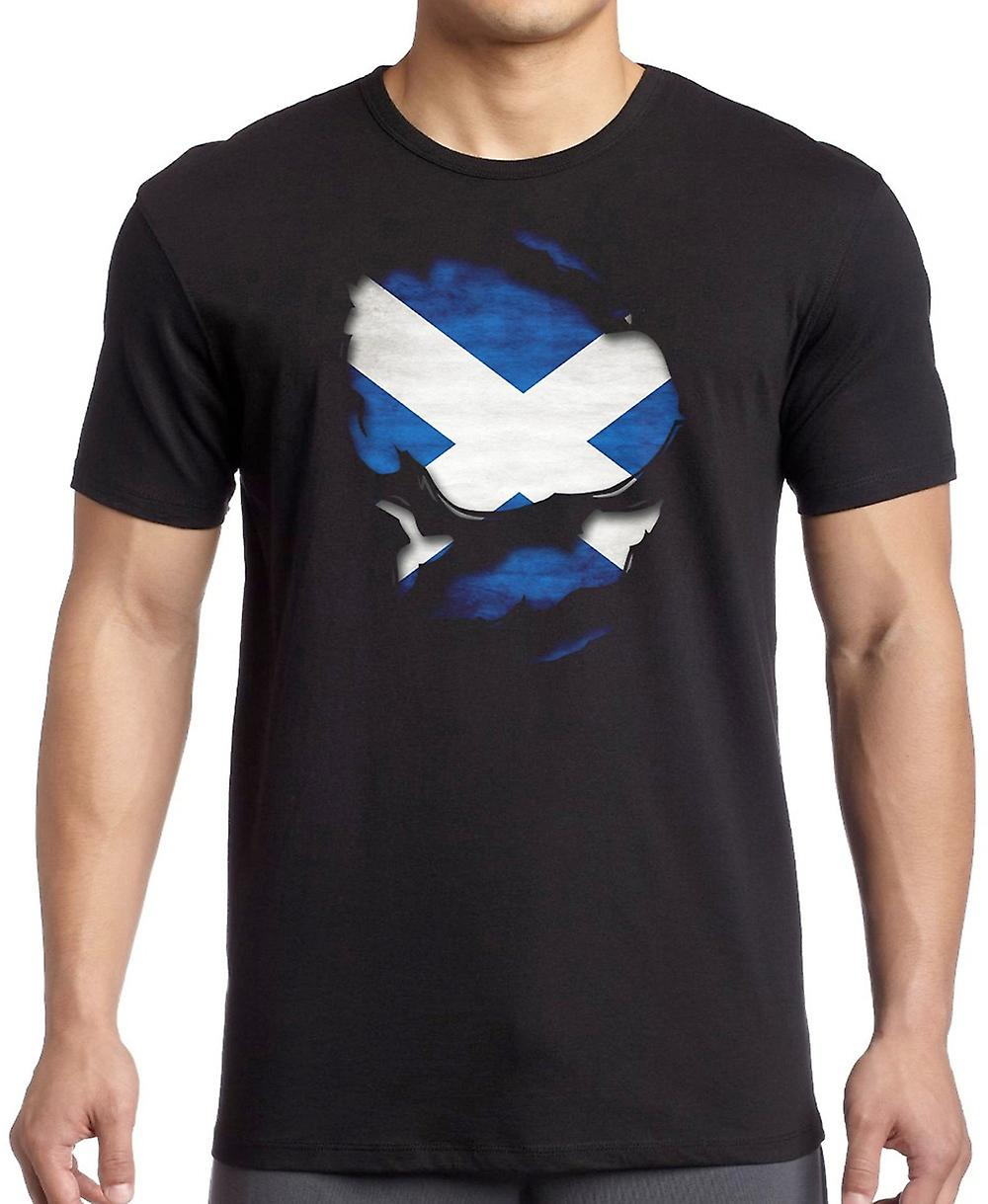 Ecosse Scottish Saltire Ripped effet en vertu shirt T-shirt