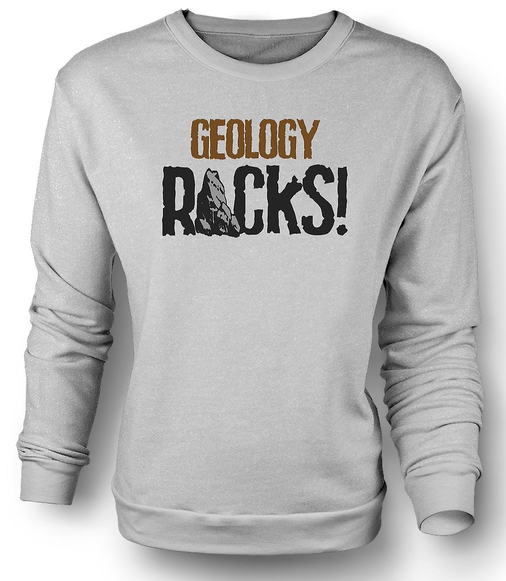 Mens Sweatshirt Geology Rocks - Funny