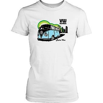 VW Kombi Retro Camper Van Ladies T Shirt