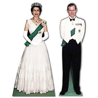 Queen Elizabeth II and Prince Philip - Lifesize Cardboard Cutout / Standee Set - Diamond Jubilee 2012