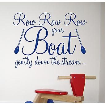 Row your boat wall art sticker