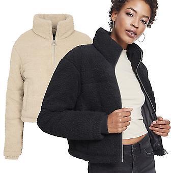 都市の古典女性 - 箱型シェルパ バッファー冬ジャケット