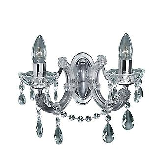 2 leichte Marie Therese Crystal Chrome Wandhalter
