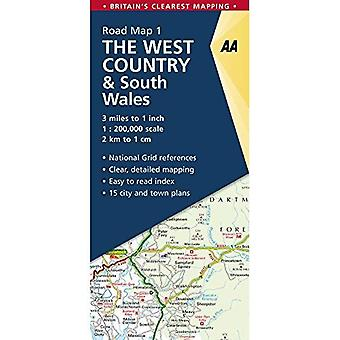 The West Country & South Wales Road Map