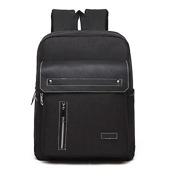 Comfortable backpack with details in faux leather-Black