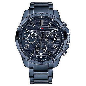 Tommy Hilfiger Men's Blue PVD Plated Multi function 1791560 Watch