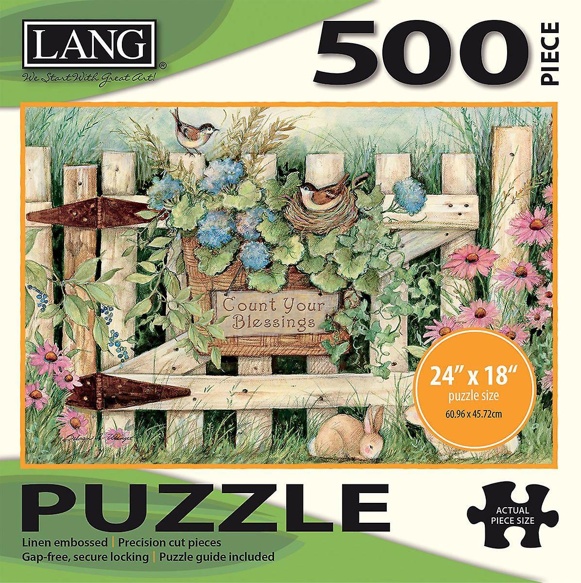 Jigsaw Puzzle 500 Pieces 24 & 034;X 18 -porte du jardin