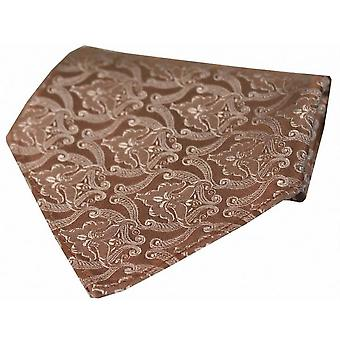 David Van Hagen Victorian Wallpaper Silk Handkerchief - Pink