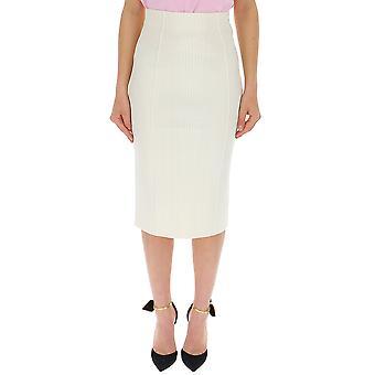 Alexander Mcqueen White Viscose Skirt