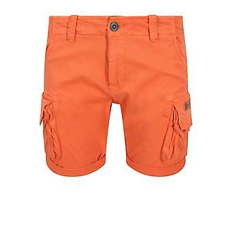 Alpha Industries mannskap Cargo Shorts | Flammen oransje
